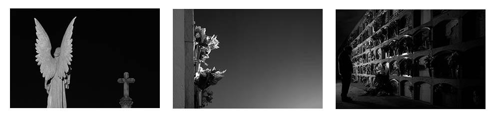 Fotografies per a l'exposició del cementiri d'Arenys