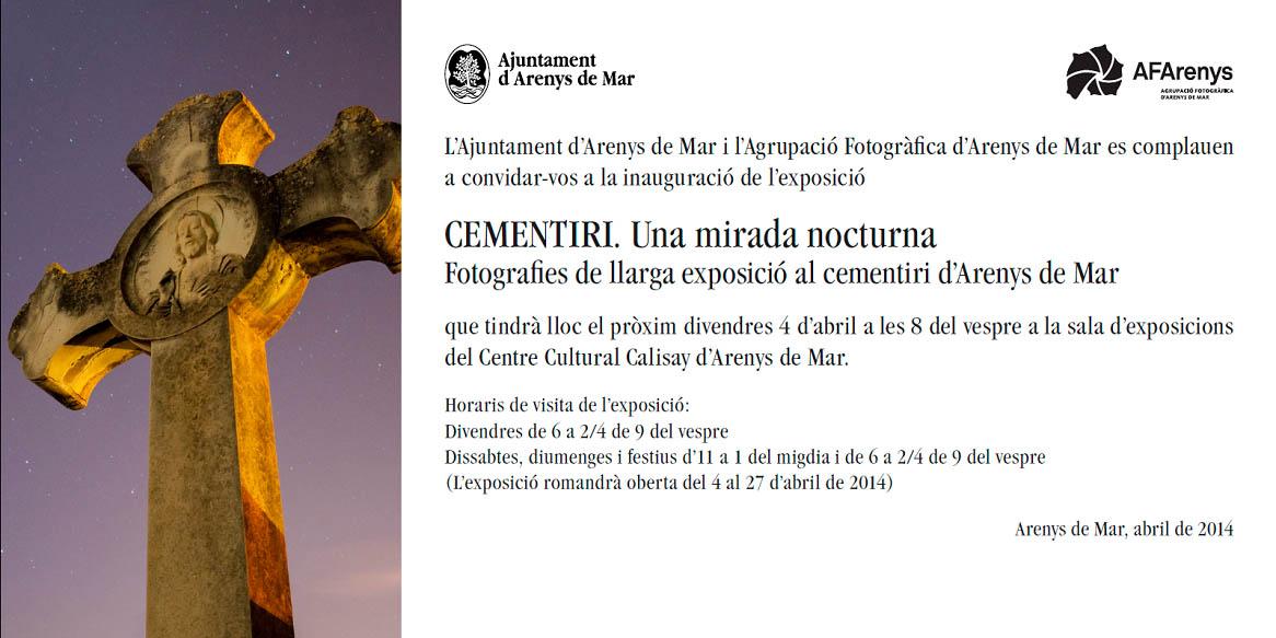 Fotografies de llarga exposició al cementiri d'arenys