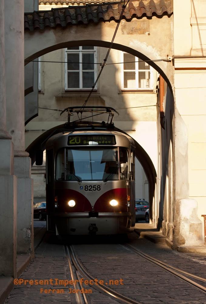 Tram at Malá Strana