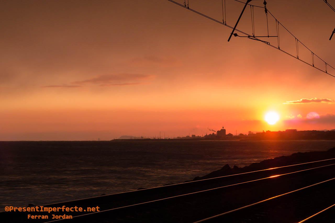 Tracks at dusk