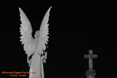 Angel, cross and night
